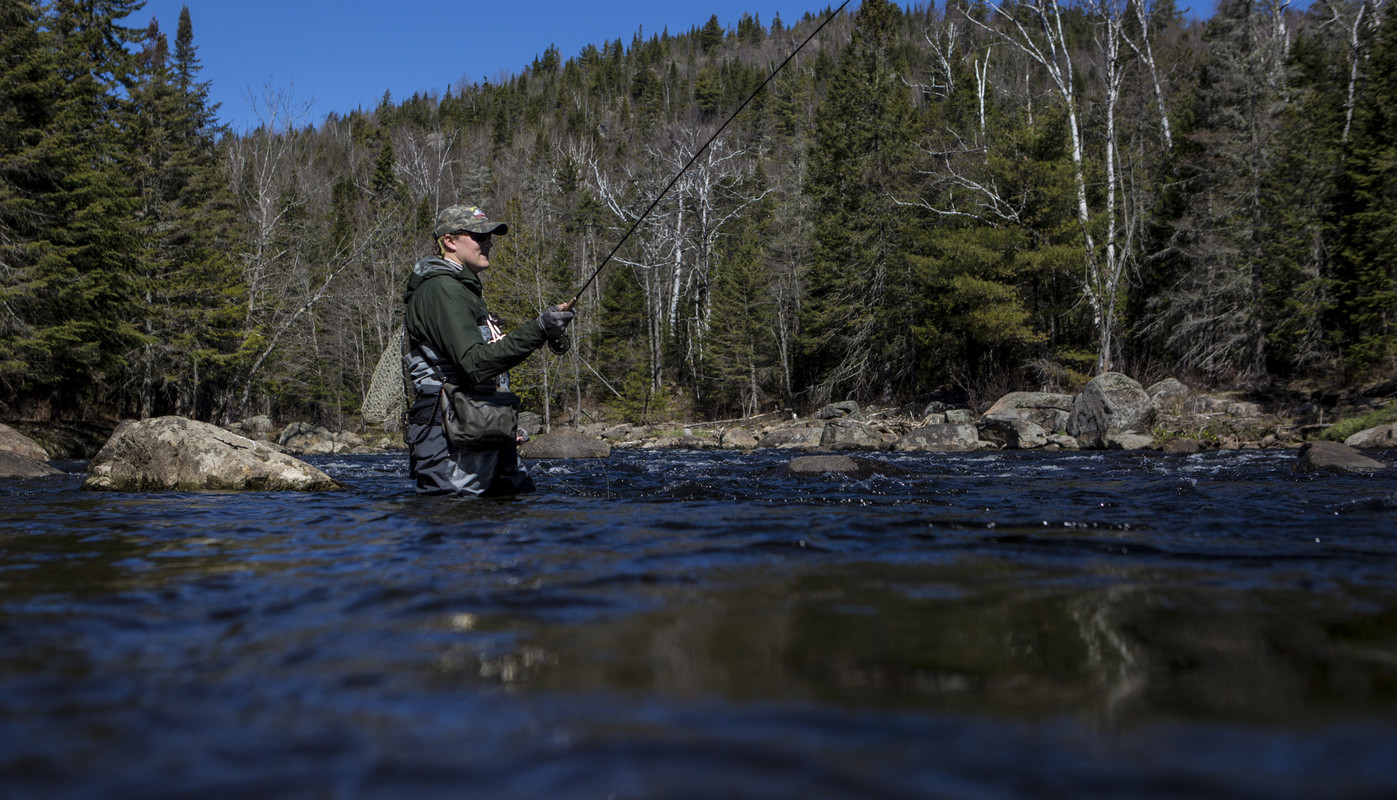 The world famous Ausable River is known for its fly fishing pleasure.