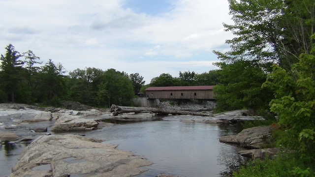 The Jay Covered Bridge Park has the wonderful swimming hole nearby.
