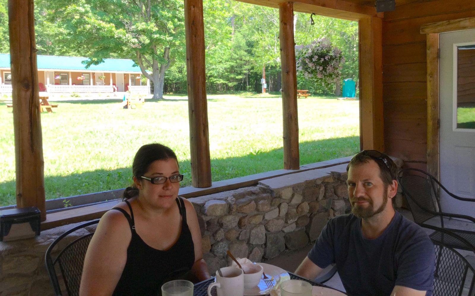 "This couple declared their meal at Up a Creek to be ""fantastic."" I believe them."