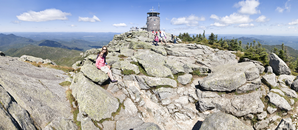Whether you arrive by car, foot, or bike, the views from Whiteface are bound to impress.