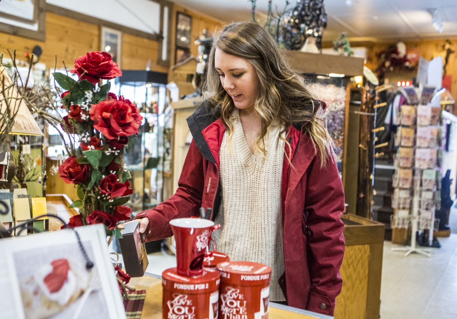 From small items for the stocking to large ones to match our heart, the High Falls Gorge gift shop has plenty to consider.