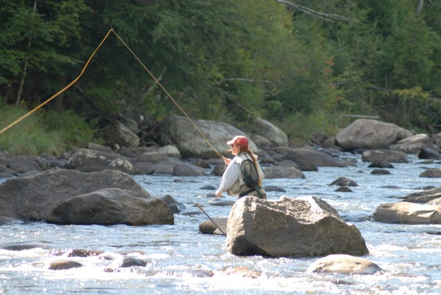 Fly fishing on the Ausable River
