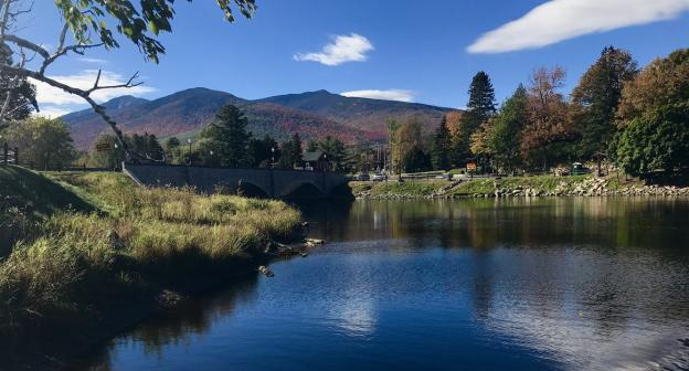 Fall starting to cook along the Ausable River.