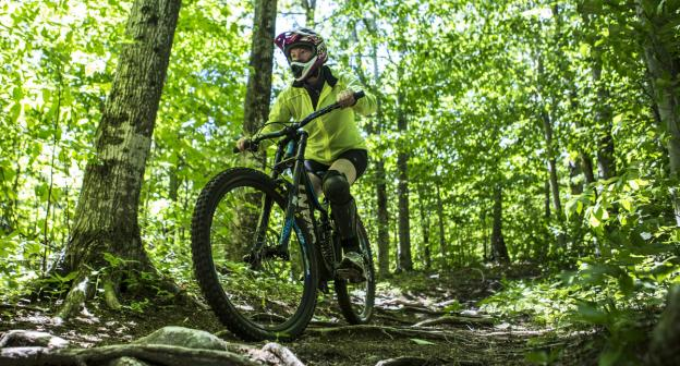 Arriving at Whiteface Mountain Bike Park