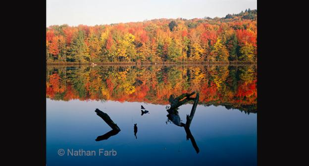One of Nathan Farb's large format images. Echo Pond, located in Lake Placid