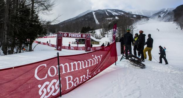 Moguls competition of the Wilderness Trail at Whiteface Mountain