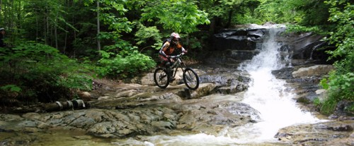 Mountain biking Stream Crossing