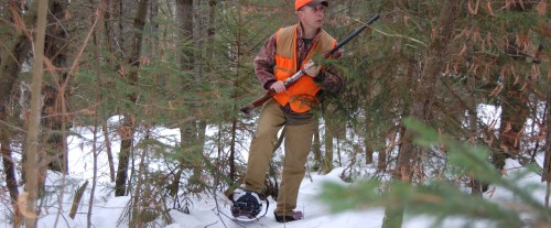 Hunting on Snowshoes