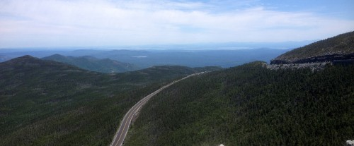 Motorcycling to the top of the Whiteface Region