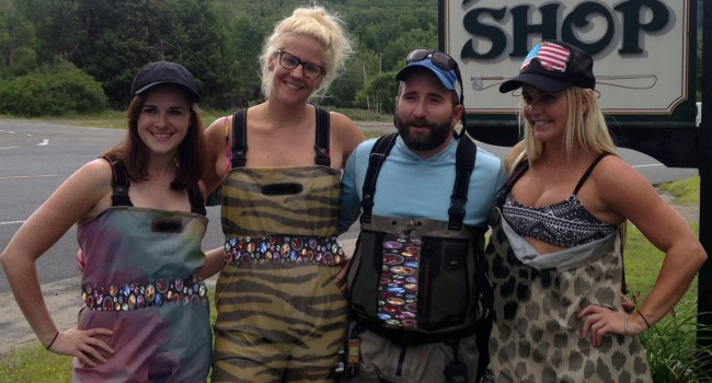 NYC Wader Fashion Struts Into Whiteface Waters