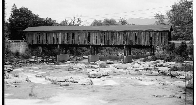Taking a dip into history at the Jay Covered Bridge