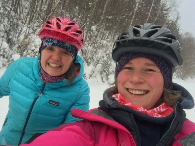 Still full of smiles as we head up the mountain.