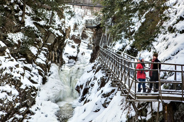 High Falls Gorge has the footwear and catwalk system which lets us explore this natural wonder from many vantage points.