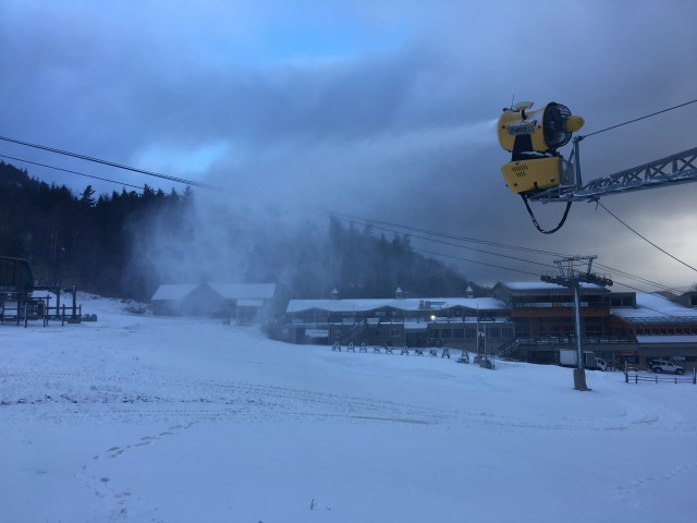 Snowmaking has begun!