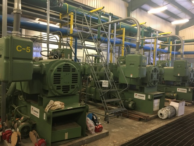 The compressors in the pump house!