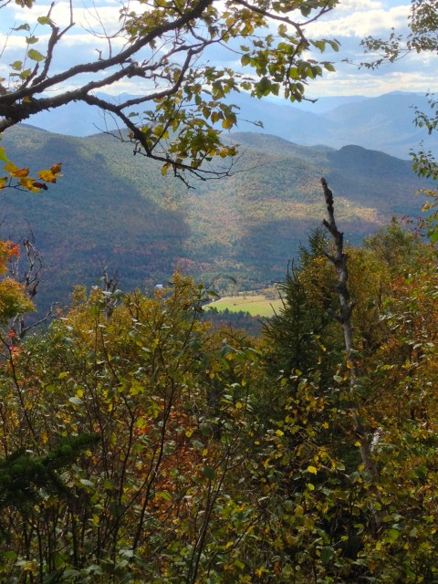 A few good views appear during the ascent up Jay Mountain