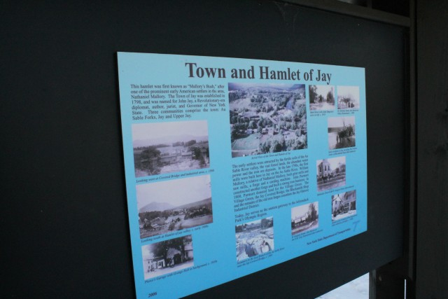 One of several interpretive signs at the site.