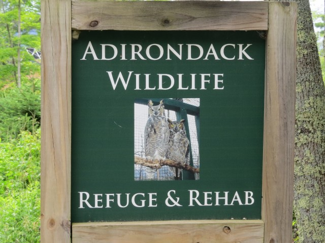 Adirondack Wildlife Refuge and Rehabilitation Center sign, photo by Joan Collins