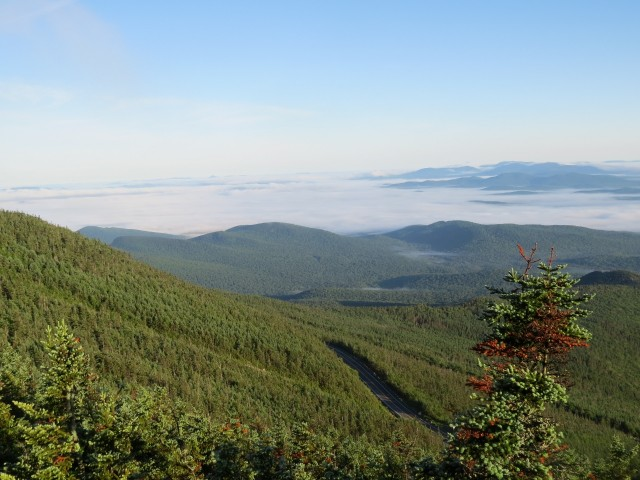 View from Whiteface Mountain, photo by Joan Collins