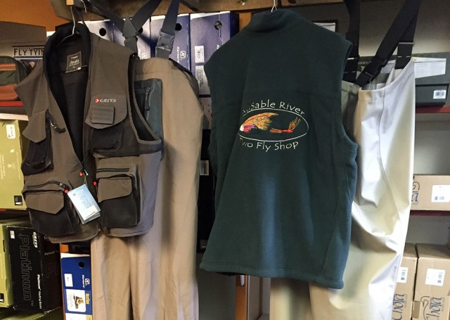 Fly fishing vest and waders