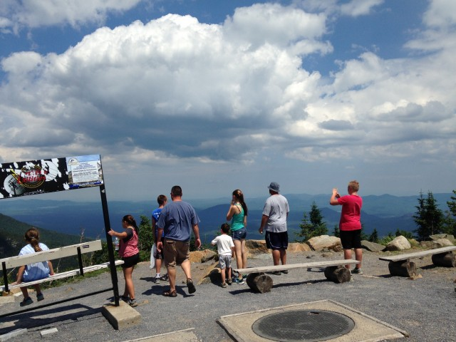 The view from Little Whiteface is amazing (this is where the gondola drops you off).