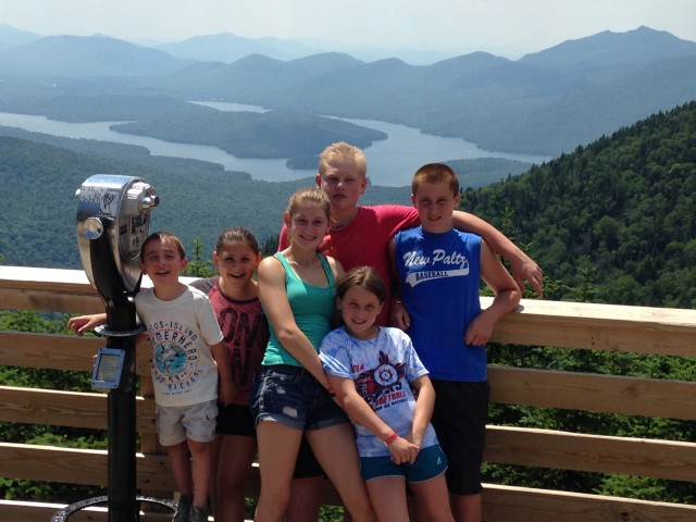 From the top of Little Whiteface the view of Lake Placid is amazing!