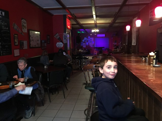 Looks like the backroom is prepping for another evening of great live music! Too bad we have to head back home - it is a school night after all! Oliver was not impressed with my to-go decision.