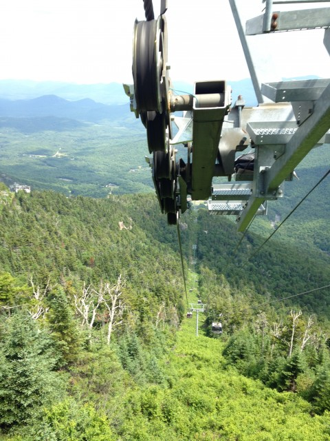 If you're scared of heights, this is a great way to ride up the mountain - just don't look down!