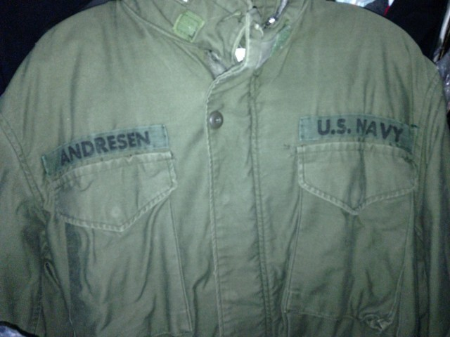 My Dad's Navy Jacket - He Was A Seabee During The Korean War
