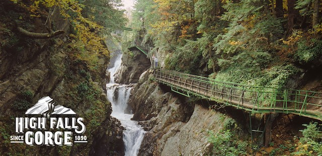 High Falls Gorge has wonderful scenery, and easy ways to access the views.