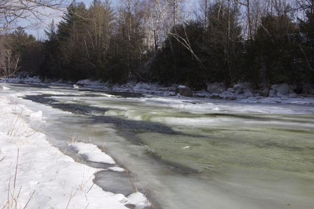 Beautiful ice on the Ausable River