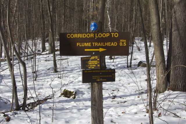 The Trails at the Flume System are very well marked