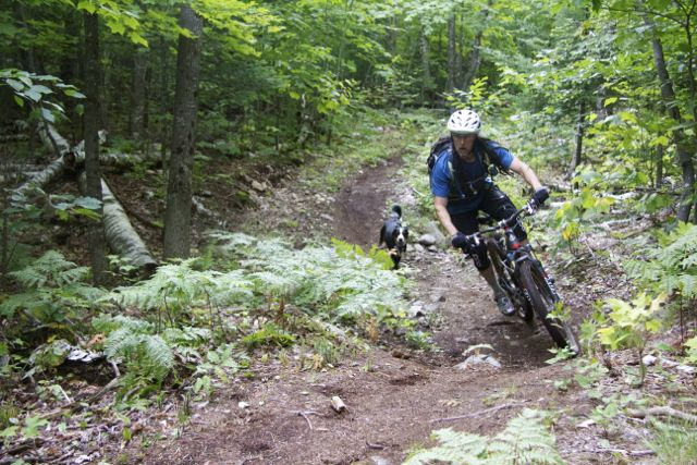 A visiting rider from Quebec enjoys the trail