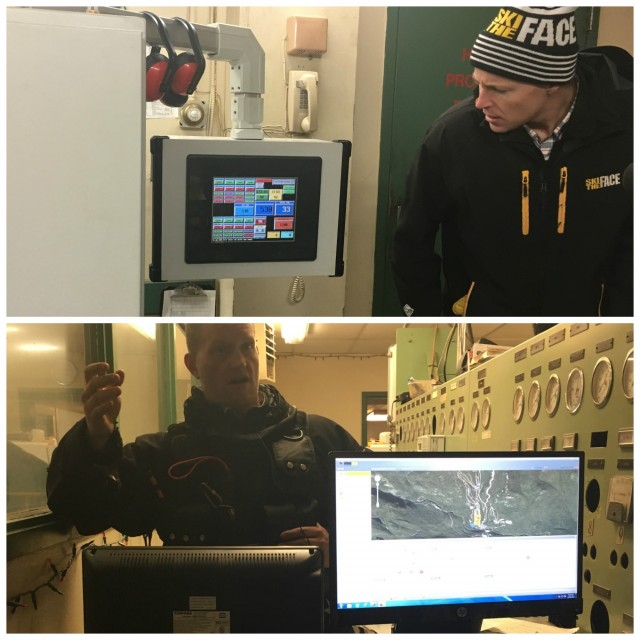 Whiteface staff showing us the computer systems!