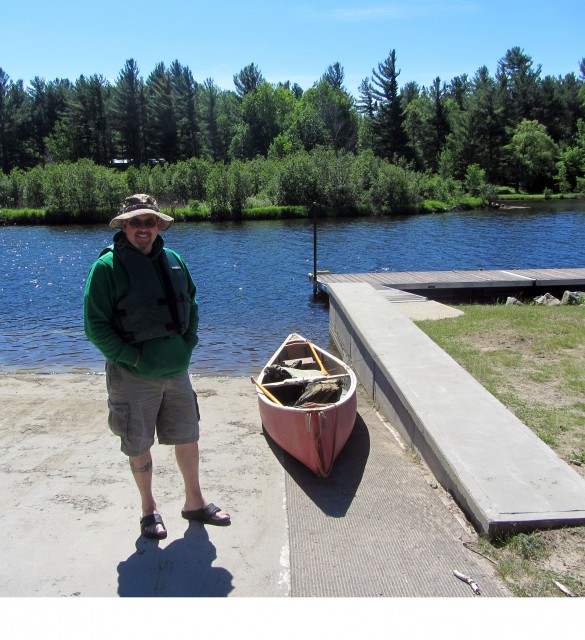 My buddy Doug Quinn waiting for me at the Lake Everest Boat Ramp.