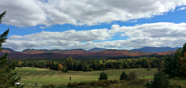 The sweep of the golf courses creates a wonderful mountain vista.