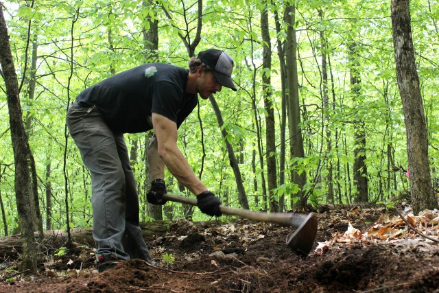Work begins on the Ridge Connector Trail.