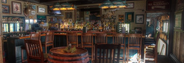 Welcoming atmosphere at McDougal's Pub (image shows a friendly bar with chairs)