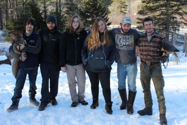 The interns at the Adirondack Wildlife Refuge and Rehabilitation Center.