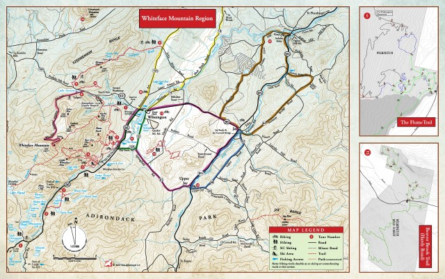 Whiteface Region Hiking & Biking Map