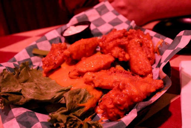 McDougall's has delicious, saucy wings.