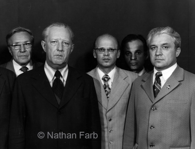 "Nathan Farb's image of Siberian Party Chiefs from his book ""The Russians"""