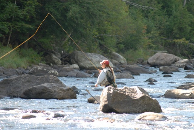 River boulders help create churning waters which in turn oxygenate the water