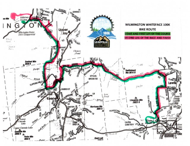 Whiteface Wilmington 100K Course Map