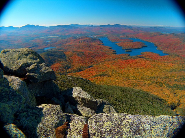 Spectacular view from the summit of Whiteface Mountain