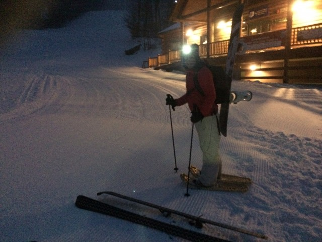 Getting ready to skin up whiteface