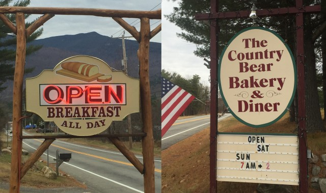 Two signs, one diner