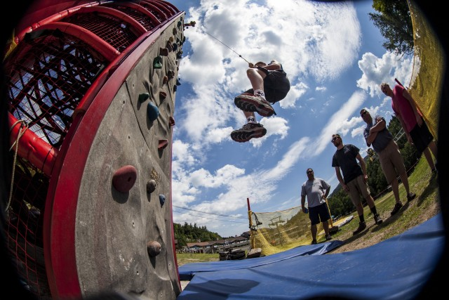 From climbing walls to bounce houses, extreme dives to slack rope - this sure makes for a fun family day!
