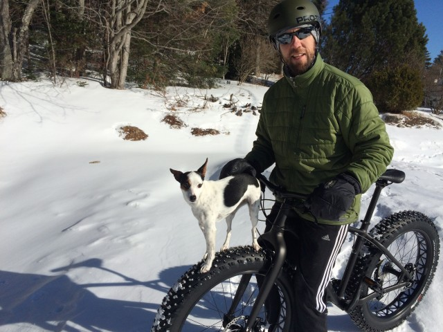 Fat Tire Biking with Dog