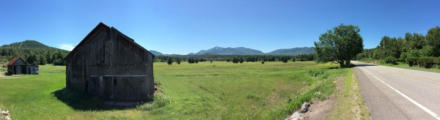 Panoramic of Whiteface from 9N towards Jay